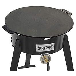 Bayou Classic 7488 17″ Cast Iron Campfire Griddle,Black