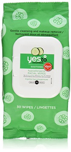 Yes To Cucumber Hypoallergenic Facial Towelettes, 30 Count (Pack of 6) ()