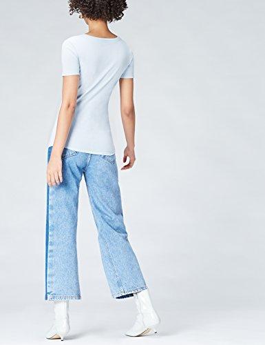 Blue Blu T Activewear Round shirt Neck sky Donna Xwqn7z0av