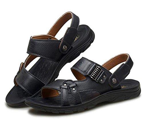 in EU43 Sandali NSLXIE estate uomo da da spiaggia pelle vera casual toe da Scarpe infradito taglia a open Pantofole antiscivolo 38 43 trIxIqw1