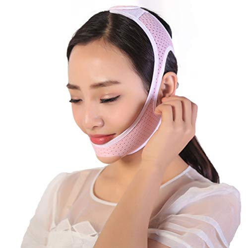 Face Slimming Mask Face Lifting Belt Facial Cheek V Shape Lift Up Thin Mask Strap Face Line Smooth Breathable Compression Double Chin Reduce Bandage,L