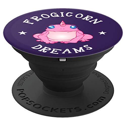 Frogicorn Dreams | Fantasy Frog Unicorn Phone Gift - PopSockets Grip and Stand for Phones and Tablets