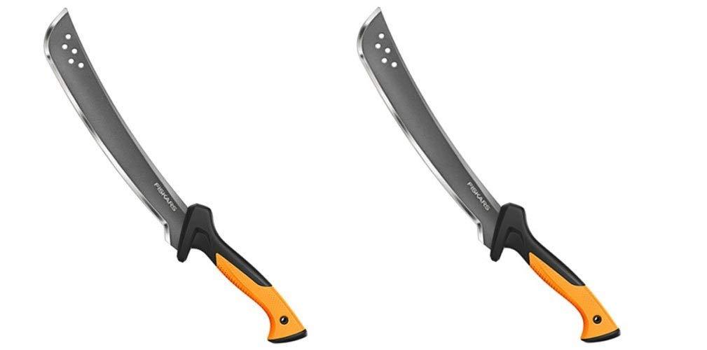 Fiskars 385091-1002 Clearing Tool Garden Machete, White (Pack of 2)