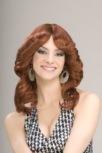 70's Costumes Sale (Forum Novelties Women's 70's Disco Doll Costume Wig, Auburn, One Size)