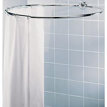 Barre circulaire pour rideau de douche Finition chromée Avec gant de ...