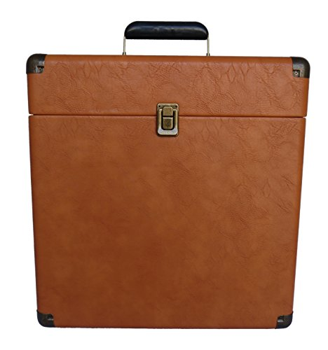 TechPlay IEP40 TN, Retro Record Carrying Case for Albums (Tan)