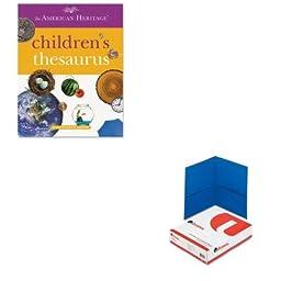 KITHOU1472086UNV56601 - Value Kit - HOUGHTON MIFFLIN COMPANY American Heritage Children\'s Thesaurus (HOU1472086) and Universal Two-Pocket Portfolio (UNV56601)