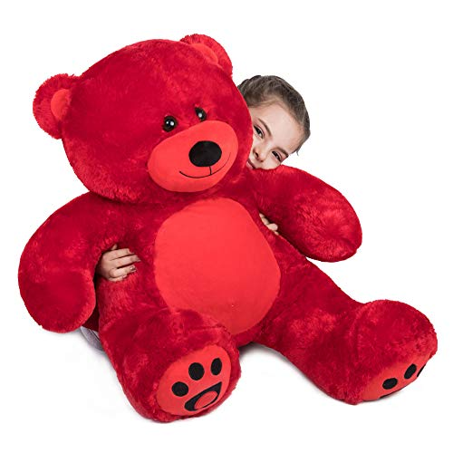 WOWMAX Cuddly Stuffed Giant Teddy Bear Plush Animals Daney 3 Foot Teddy Bear Toy Doll for Valentine's Day Birthday Gift Red 36 Inches from WOWMAX