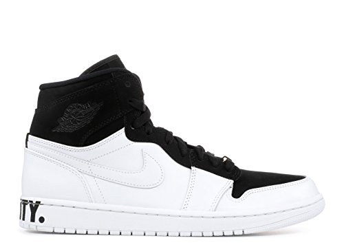 Jordan Air 1 Retro Hi Equality, Scarpe da Fitness Uomo Multicolore (Black / White-me 001)