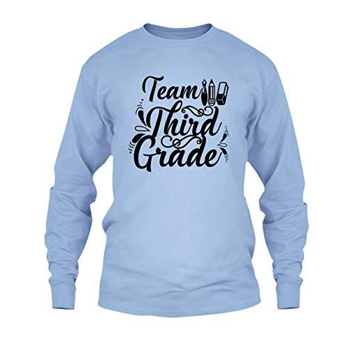 - On Yellow 3rd Grade Teacher, Team 3rd Grade T Shirt, Long Sleeve T Shirt, Long Sleeve (S,Blue)