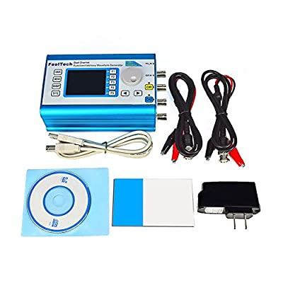 AIkong 6MHz Digital DDS Dual-Channel Signal Generator Arbitrary Waveform Function Blue US