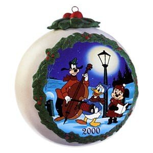 Christmas Donald Duck - WDCC Plutos Christmas Tree Ball Ornament 2000 with Donald Duck, Minnie Mouse and Goofy