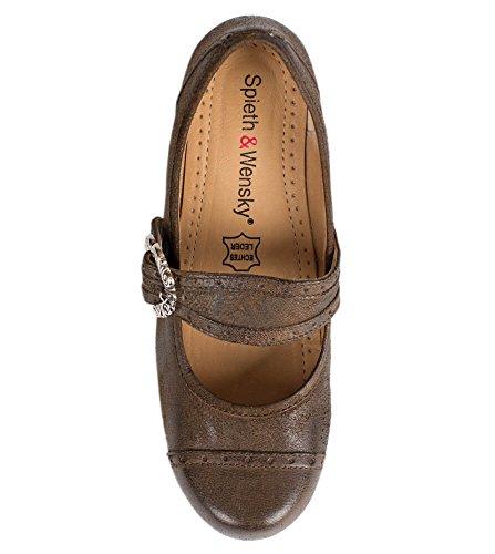 Spieth & Wensky Az_d418clarapumpsrustik - Zapatos de vestir para mujer marrón marrón One Size