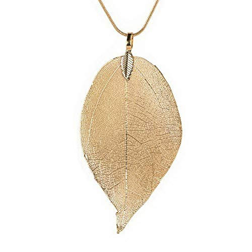 Coin Cameo Replica (Kaputar Fashion Women Leaf Sweater Pendant Necklace Ladies Leaves Long Chain Jewelry | Model NCKLCS - 18571 |)