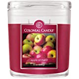 Colonial Candle 8-Ounce Scented Oval Jar Candle, Apple Orchard
