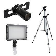 Opteka Slide Copier Studio Lighting Kit for Nikon D4S, D3S, Df, D4, D810, D800, D750, D610, D600, D7200, D7100, D7000, D5500, D5300, D5200, D5100, D3300, D3200 and D3100 Digital SLR Cameras