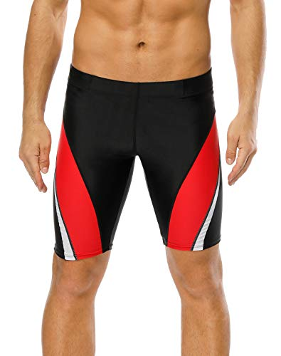 - belamo Mens Training Swimsuits Quick Drying Jammer Solid Swimming Shorts 32