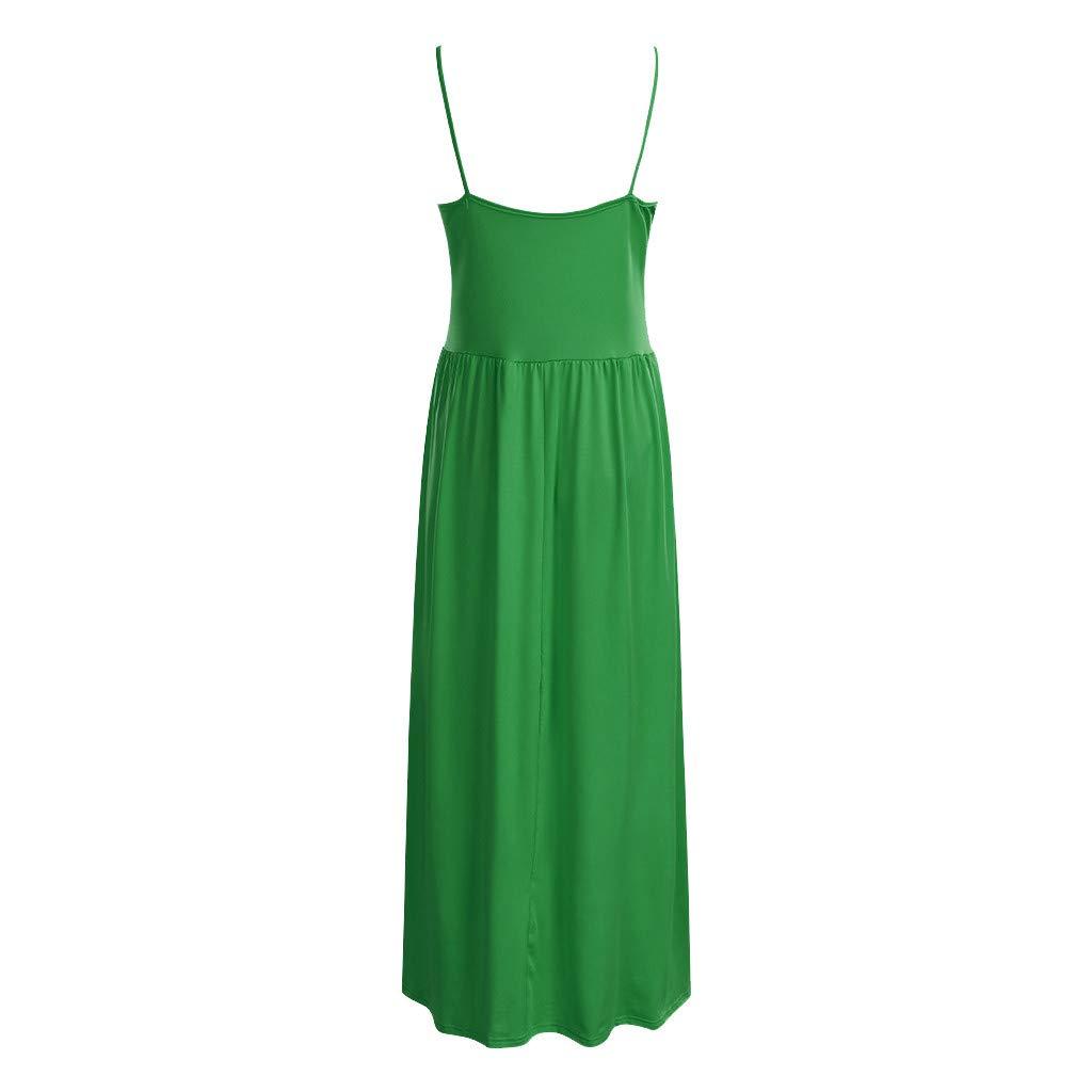 Huifa Women Maternity Summer Sleeveless Casual Sundress Pregnancy Off Collar Gown