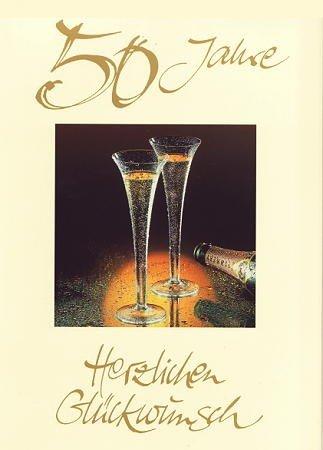 A4 tarjeta de felicitación bodas de oro/Aniversario 50: Amazon.es ...