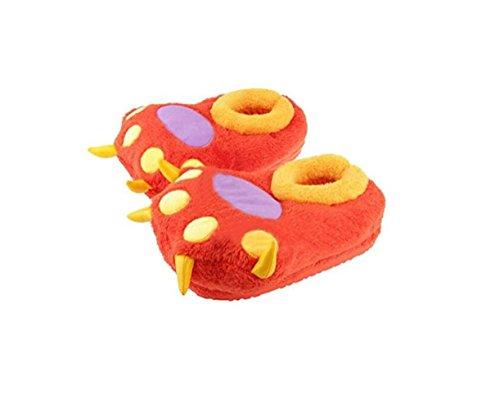 douces peluche en de Orange Pantoufles griffes palm de ours chat coton d'hiver chaussons PxgUw8q