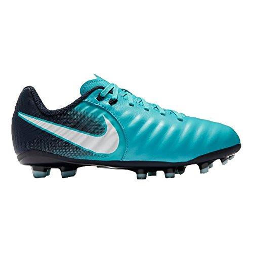 Nike Kid's Jr. Tiempo Ligera IV FG Soccer Cleat (Sz. 1.5Y) Gamma Blue, Glacier Blue