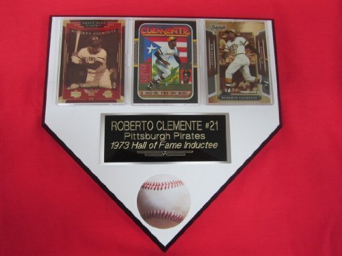 Roberto Clemente Pirates 3 Card Collector HOME PLATE Plaque EXCLUSIVE DESIGN to -