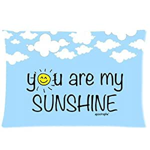 LarryToliver You deserve to have satin fabric 20 X 30 inch pillowcase You Are My Sunshine best pillow cases(one side)