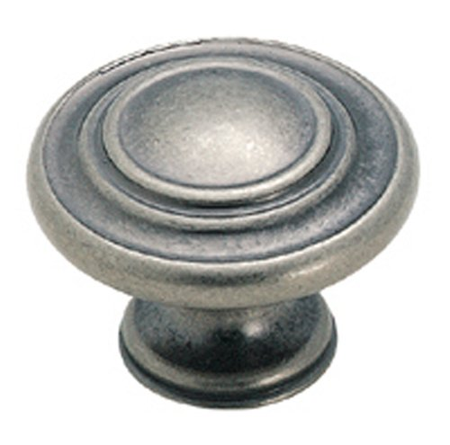 Amerock BP1586-WN Inspirations 3-Ring 1-3/8-Inch Diameter Knob, Weathered (Amerock Weathered Nickel)
