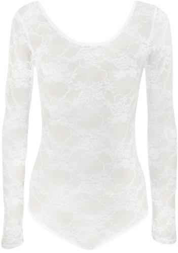 WearAll Women's Lace Bodysuit - White - US 8-10 (UK 12-14)
