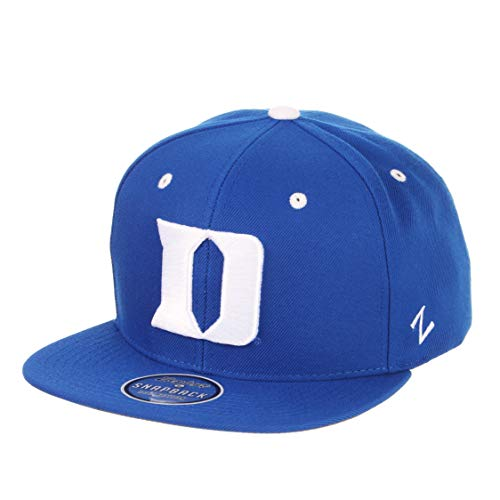 ZHATS Duke Blue Devils Royal Blue Z11 Adjustable Snapback Cap - NCAA Flat Bill 6-Panel Baseball Hat
