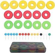 Fishing Line Storage Fishing Foam Spools, 16pcs Mix Color Fishing Line Storage Foam Spools Winding Board Tool