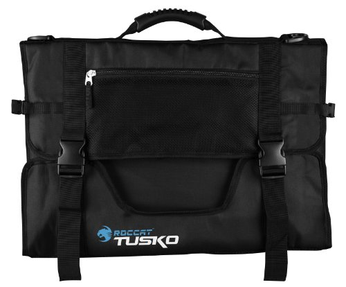 ROCCAT TUSKO Widescreen Gaming Bag Designed for up to 24-Inch Flatscreen Monitors, Black (Black Screen Windows)
