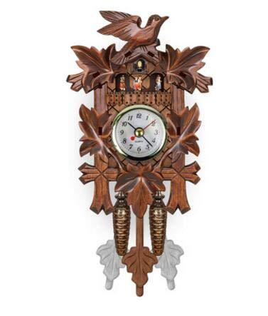 Tianhaik Cuckoo Clock Pendulum Wall Clock Black Forest House Home Decor
