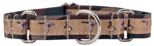 Country Brook Design Duck Camo Grosgrain Ribbon Martingale Dog Collar - Large