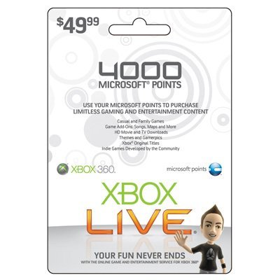 Live 4000 Points Card - 3