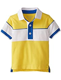 Baby Boys' Pieced Cotton Jersey Polo