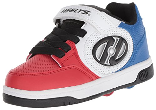 Heelys Boys' Plus X2 Tennis Shoe, Blue/White/red, 6 Medium US Little Kid