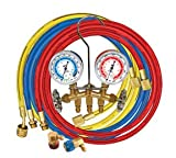 MSC66661 Mastercool 66661 Brass R134a Manifold Gauge Set 3e274a33j65 with (3) ''60'''''' 62u83sm0h Hoses kiiop45 vjwqas35 Heavy 6zk26g8aa1 m7m14ifo duty forged brass body