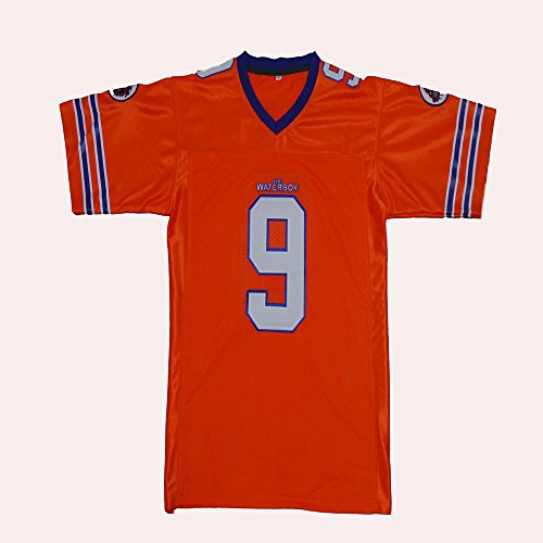 Estar Number 9 Bobby Boucher the Waterboy Movie Jersey Stitched Embroidery Football Jersey, XX-Large