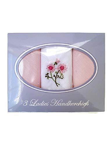 3 or 9 Ladies Anucci Cotton Rich Boxed Handkerchiefs Hankies Plain//Embroidered