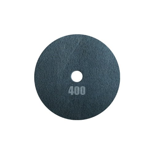 Tornado Pad - Double Sided Diamond Floor Polishing Pad (17'', Silver - 400 Grit) by Concrete DNA