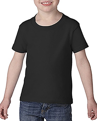 Gildan Toddler Softstyle 45 oz T-Shirt - Black - 5T - (Style # G645P - Original Label)