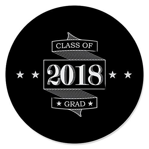 Graduation Cheers - 2018 Graduation Party Circle Sticker Labels - 24 (Graduation Sticker Seals)
