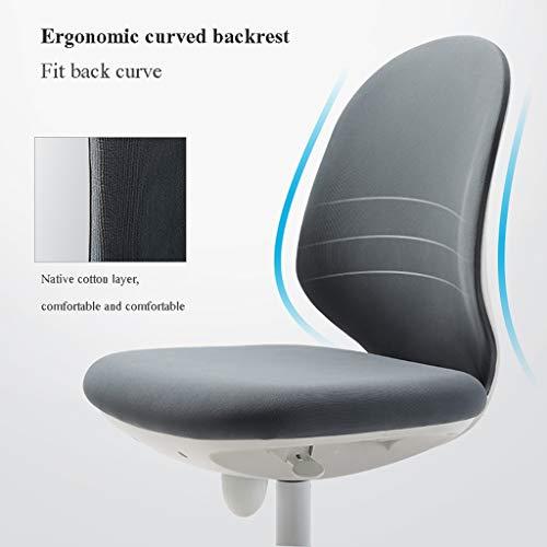 Kontorsstol ergonomisk design knappkontrolldesign, 10 cm lyft och justering datorstol (färg: A)