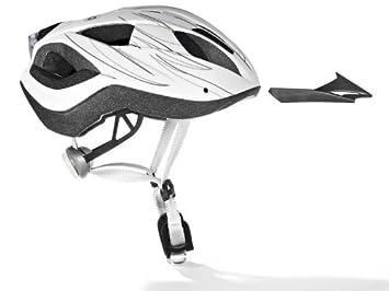 Crivit Sports Adultos Casco de Bicicleta con luz Trasera Varios tamaños/Colores, White -
