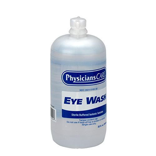 PhysiciansCare by First Aid Only 500-90547 Eyewash Bottle, 32 oz. (Pack of 12) by First Aid Only (Image #1)