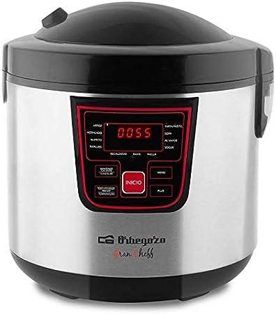 ORBEGOZO 17438 Máquina de cocinar programable MCP 6000, Negro ...