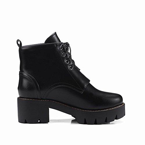 22b44c51273020 YE Damen Blockabsatz Ankle Boots High Heels Stiefeletten Plateau mit  Schnürung und Schnallen Elegant Bequem Schuhe ...