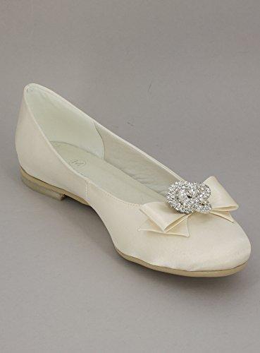 Ballerina La Avorio Bianca Stocké E Ecru Gioiello nbsp;prodotto nbsp;– Francia Da Ivoire Svelta Matrimonio O Fiocco T7TFxq1rn