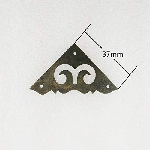 BIG-DEAL_Bulk 31mm/37mm,Triangle Metal Coner Cabochon,Ancient Vintage Corner,Flatback Metal Embellishments Scrapbooking,Wooden Box Decor - (Color:31mm)